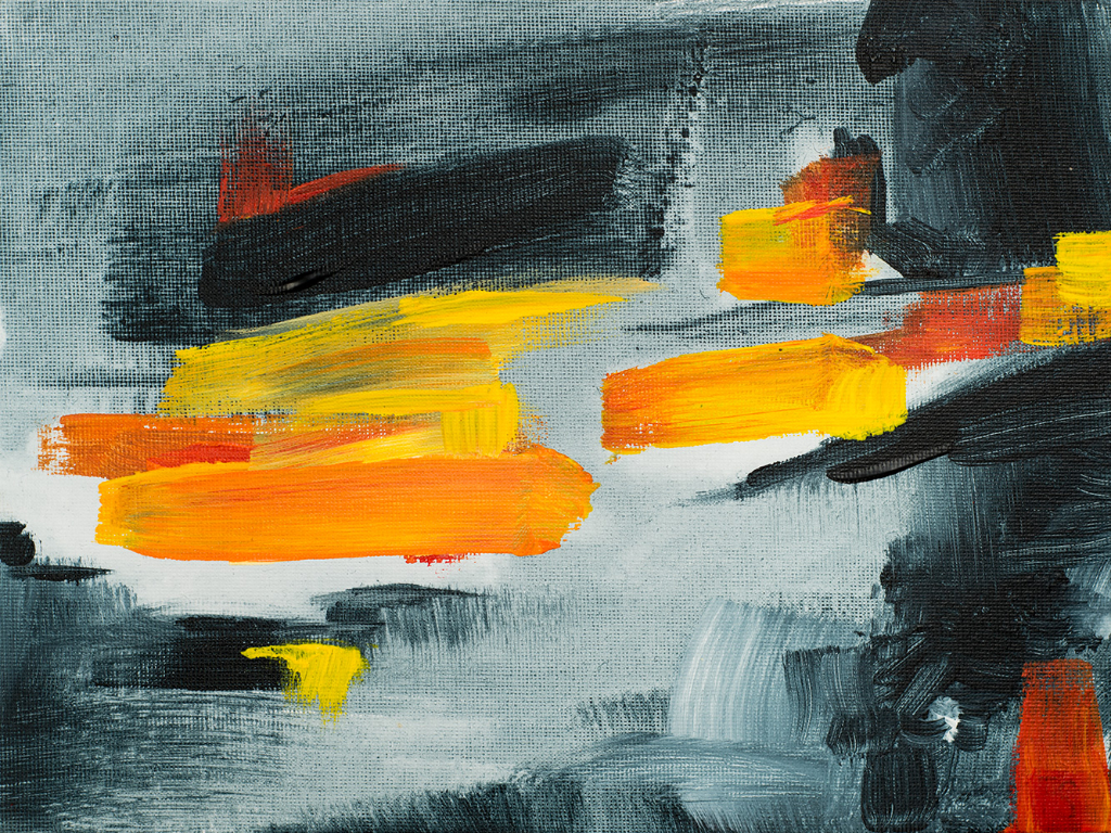 "Franziska Schwade - Daily Painting 150923/1 ""Storm"" Acrylics on canvas board 24×18 cm / 9.5×7 inch"