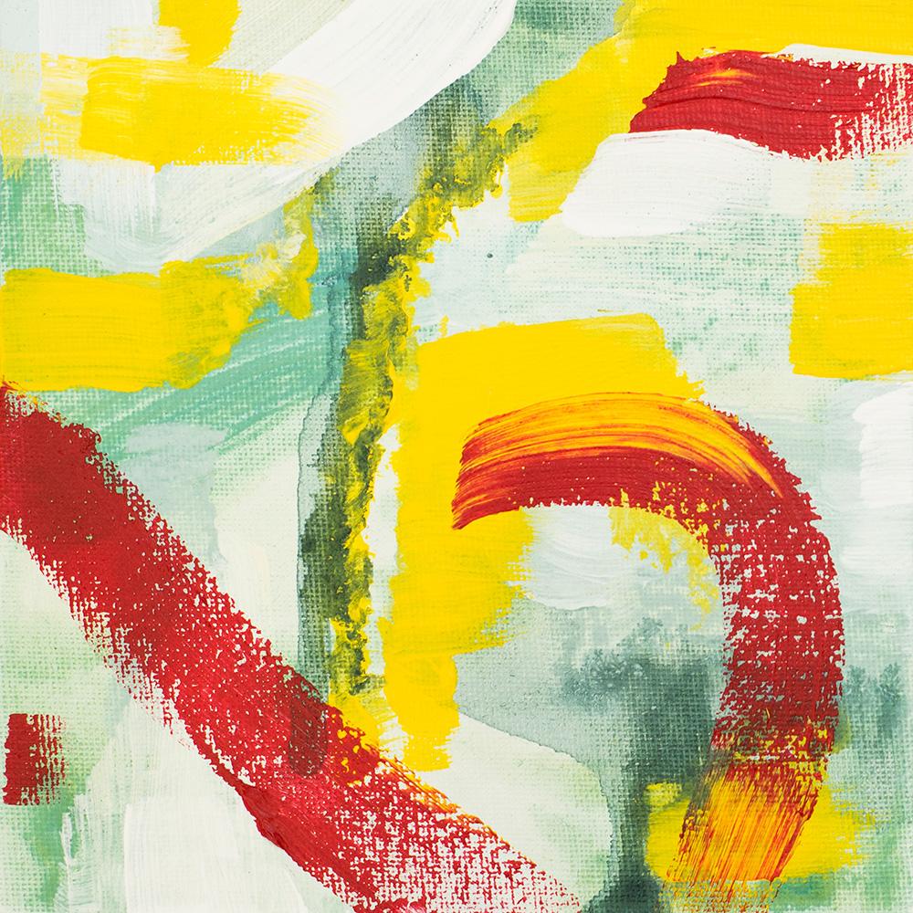 "Franziska Schwade - Daily Painting 150928/1 ""Spring Garden I"" Acrylics on canvas board 15x15 cm / 5.9x5.9 inch"