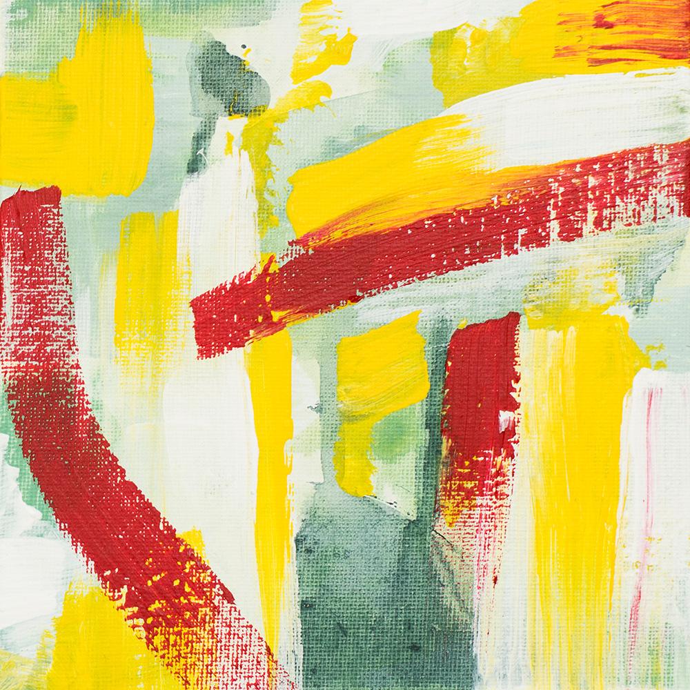 "Franziska Schwade - Daily Painting 150928/2 ""Spring Garden II"" Acrylics on canvas board 15x15 cm / 5.9x5.9 inch"