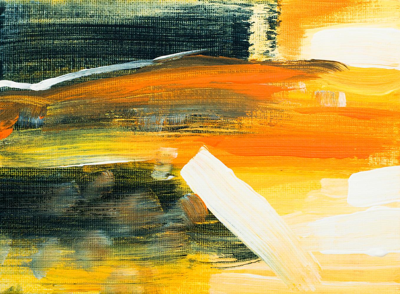 "Franziska Schwade - Daily Painting 151001 ""Sunset Beach"" Acrylics on canvas board. 18×13 cm / 7×5.1 inch"
