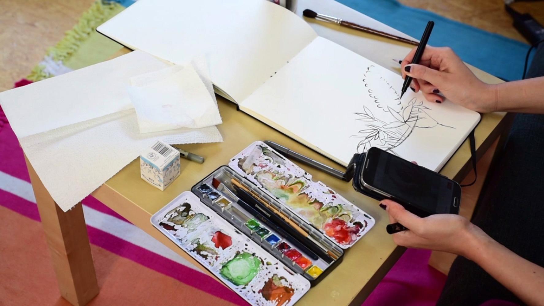watercolor-lilacs-paintingprocess-stepbystep-franziskaschwade-1