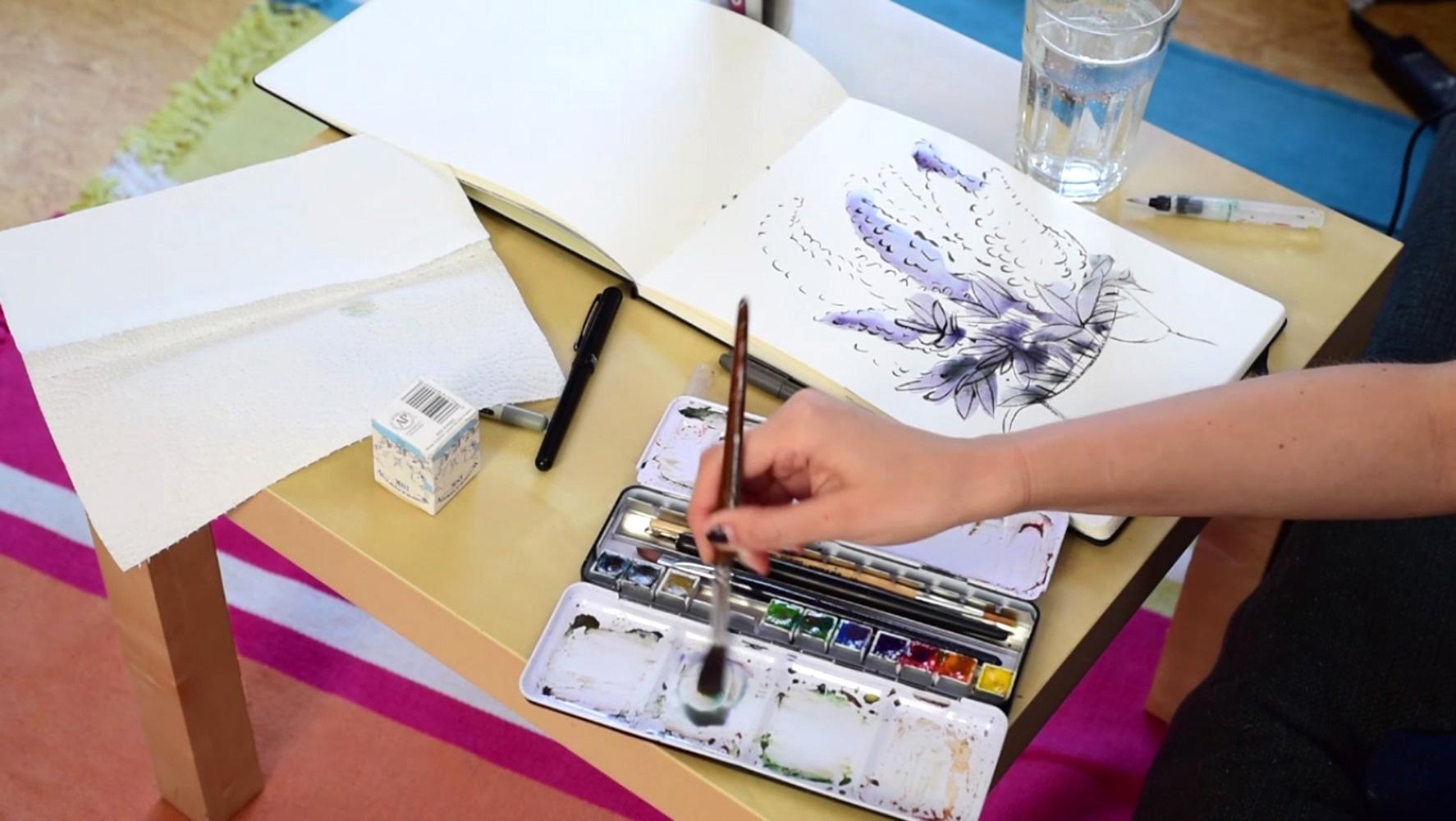 watercolor-lilacs-paintingprocess-stepbystep-franziskaschwade-2