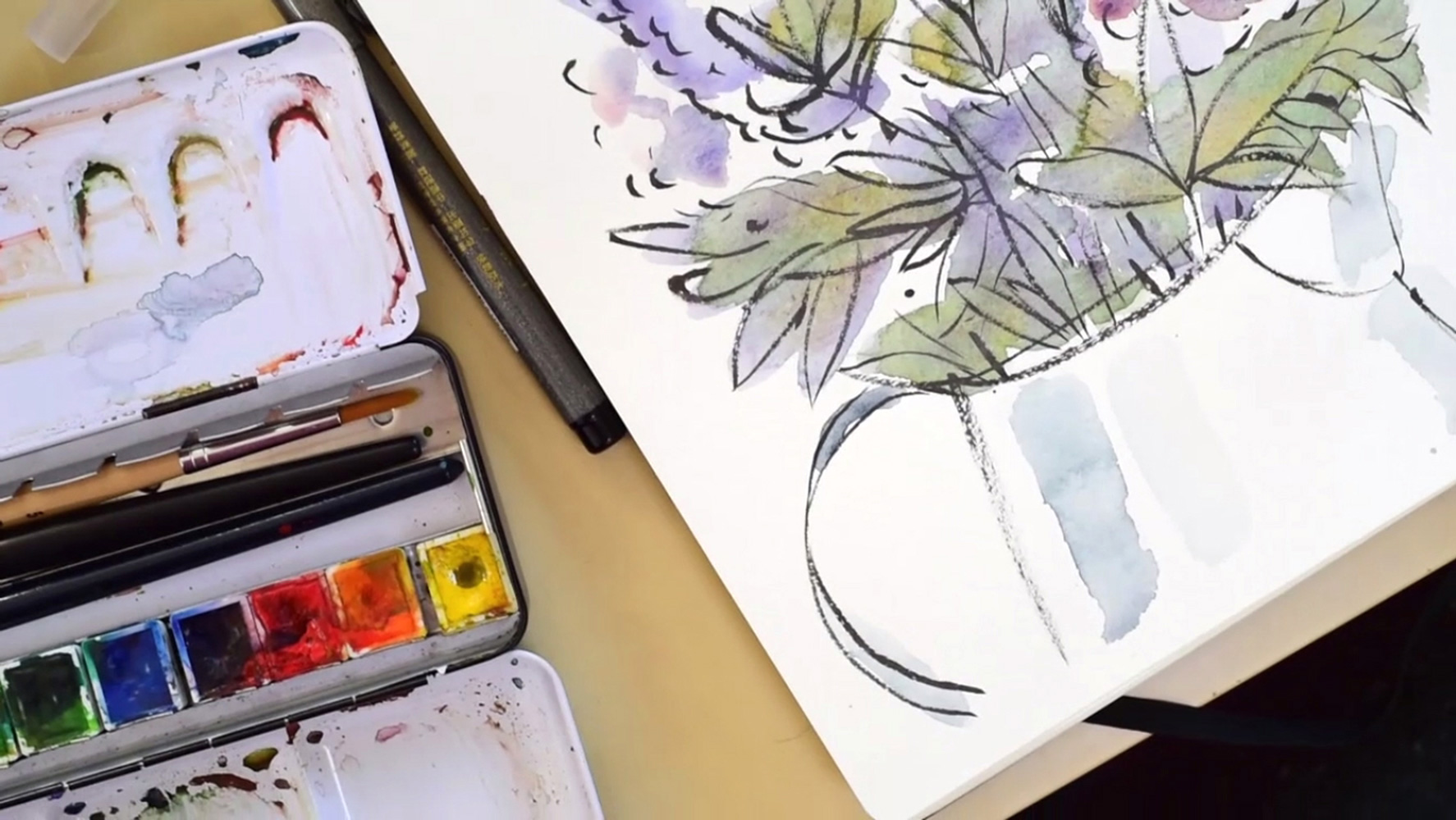 watercolor-lilacs-paintingprocess-stepbystep-franziskaschwade-4
