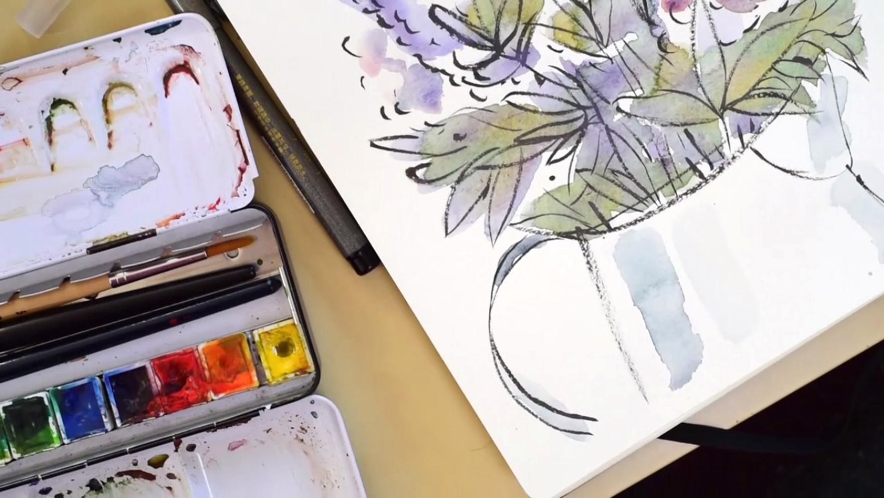 watercolor-lilacs-paintingprocess-stepbystep-franziskaschwade-4