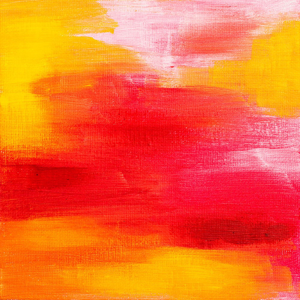 "Franziska Schwade - Daily Painting 151002/1 ""Rose Colored Glasses"" Acrylics on canvas board 15x15 cm / 5.9x5.9 inch"