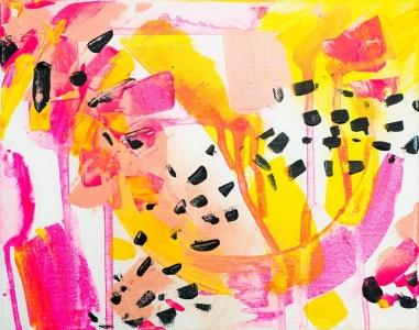 Stratiatella, 151020 / acrylics on canvas / 30x24 cm / available 150 €