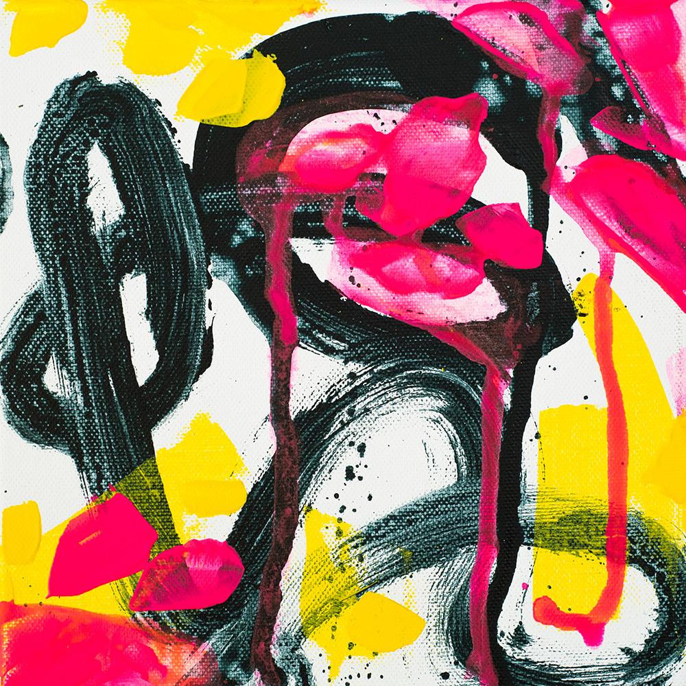 Neon Loophole, 151022 / acrylics on canvas / 20x20 cm / available 85 €