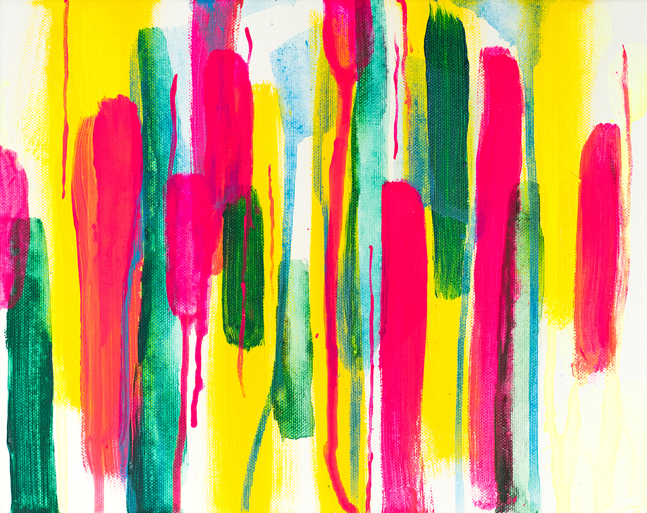 "Franziska Schwade - Daily Painting 151026 ""Zero Enthusiasm"" Acrylics on stretched canvas 24x30 cm / 9.4x11.8 inch"