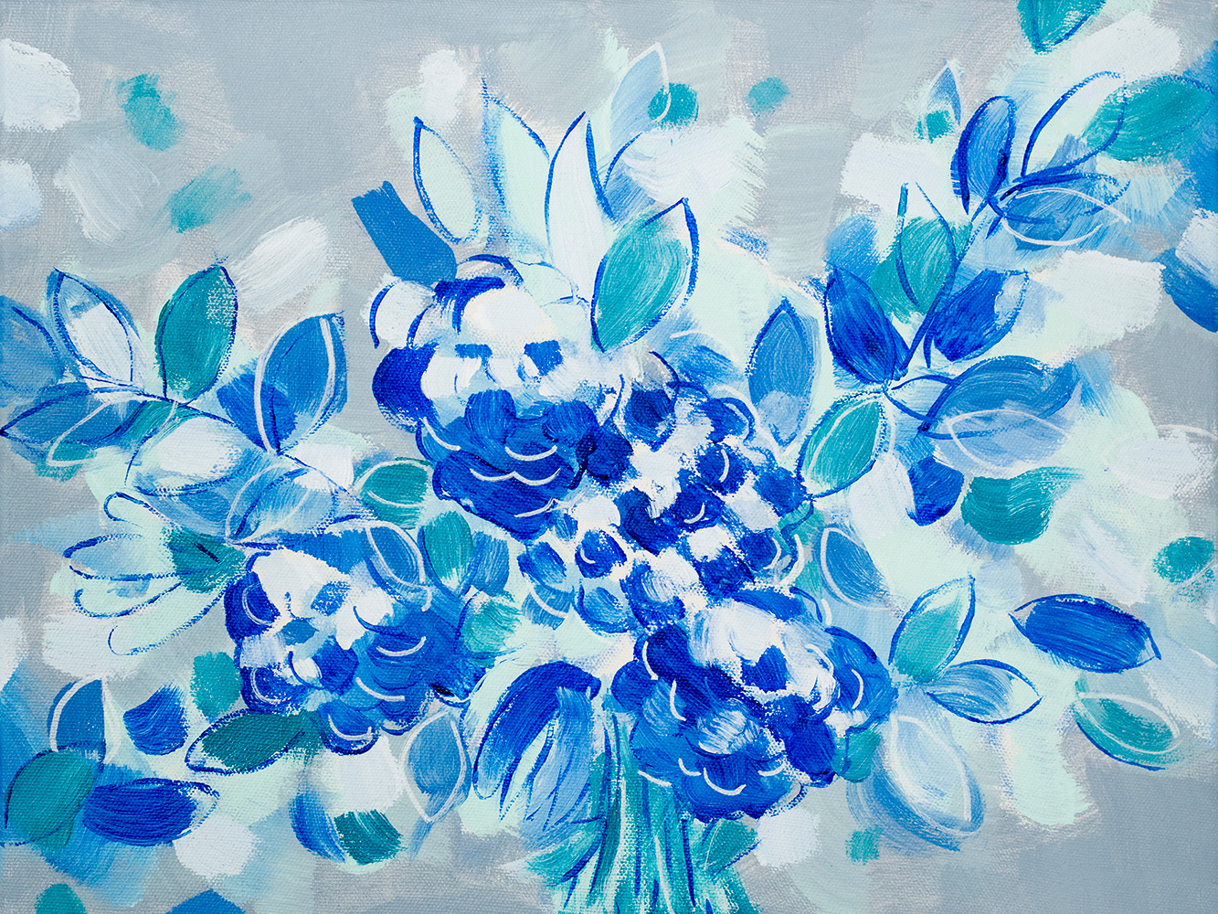 "Franziska Schwade - Daily Painting 151102 ""Wedding Blues"" Acrylics on stretched canvas 40x30 cm / 15.7x11.8 inch"