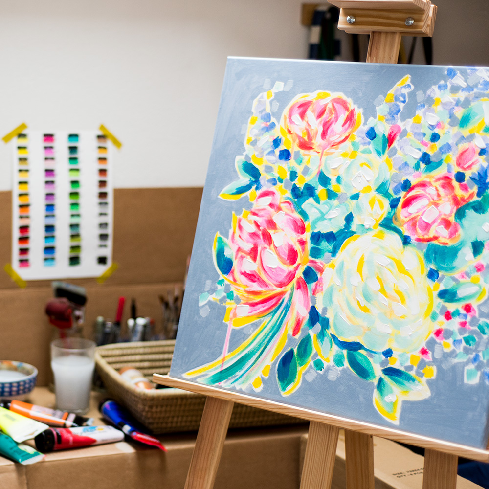 franziskaschwade-paintingprocess-cubisticpeony