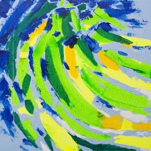 Bananas, 151115 / acrylics on canvas / 30x30 cm / available 185 €