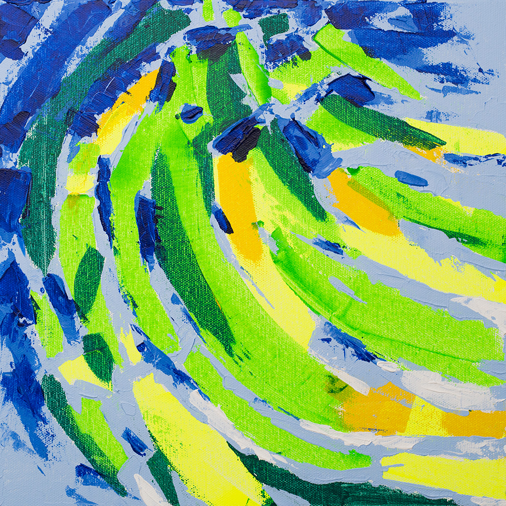 "Franziska Schwade - Daily Painting 151115 ""Bananas"" Acrylics on stretched canvas 30x30 cm / 11.8x11.8 inch"