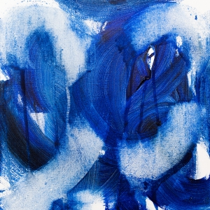 Midnight Blue, 151212 / acrylics on canvas / 30x30 cm / available 185 €