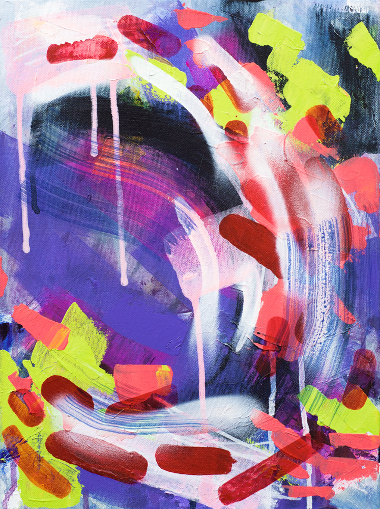 Sunset Haze, 2016 / acrylics & spray paint on canvas / 30x40 cm / available 245 €