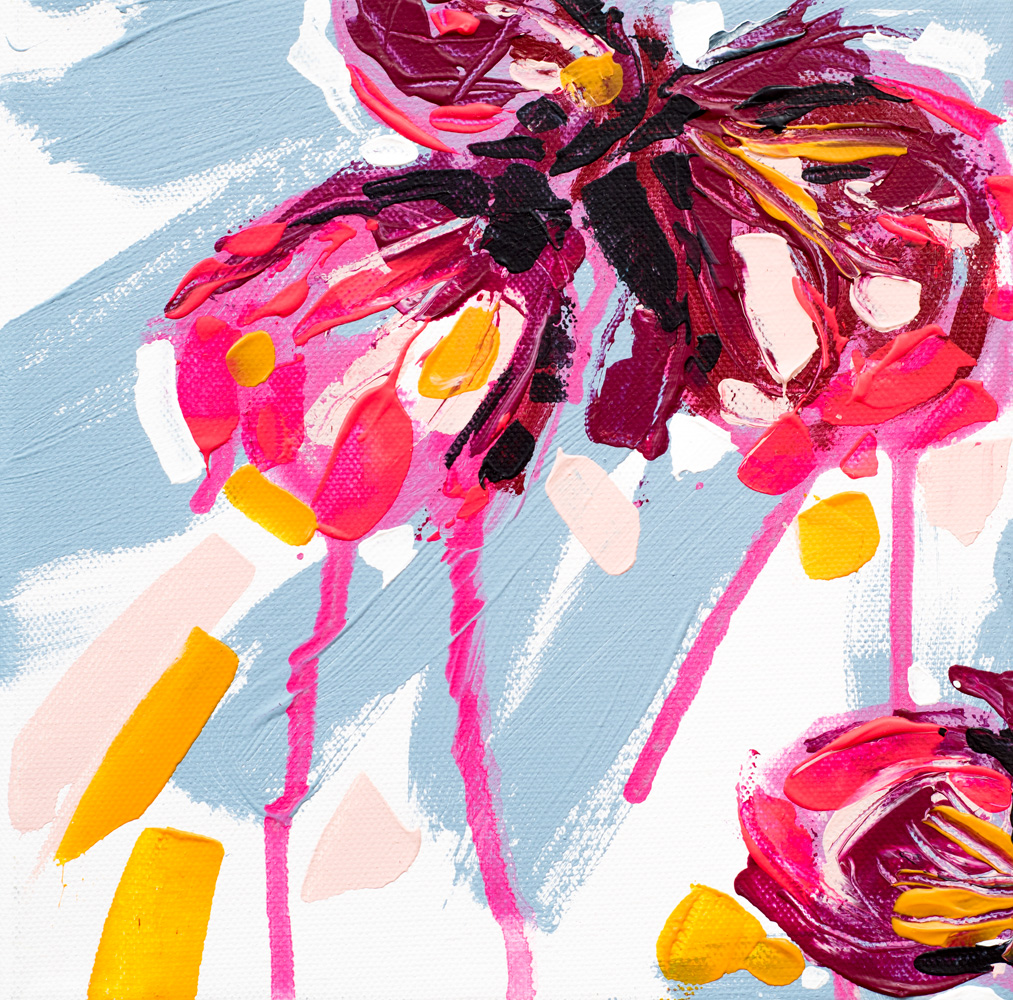 "Franziska Schwade - Daily Painting / 30in30 160104 ""Flower Explosion I"" Acrylics on stretched canvas 20x20 cm / 7.9x7.9 inch"