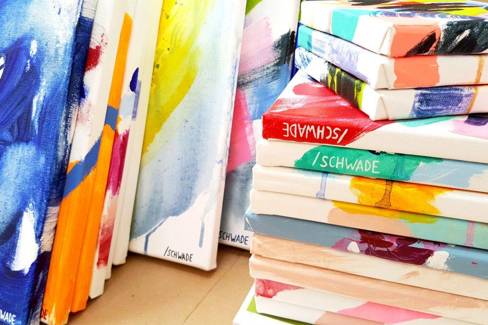 FranziskaSchwade-paintingprocess-signedcanvases