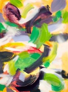 """""""Jungle I"""", 2017 / acrylics & spray paint on canvas / 73x54 cm / available 710 €"""