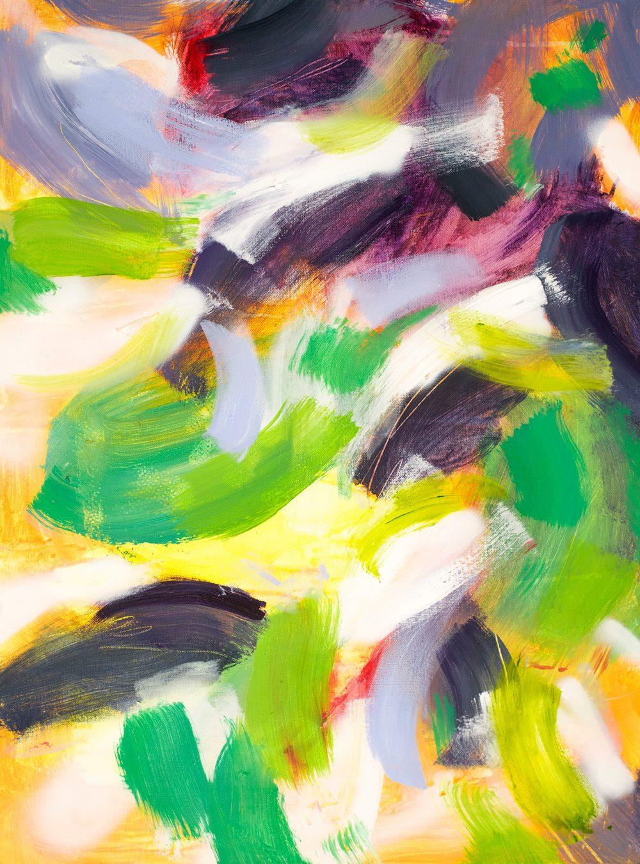 """""""Jungle II"""", 2017 / acrylics & spray paint on canvas / 73x54 cm / available 710 €"""