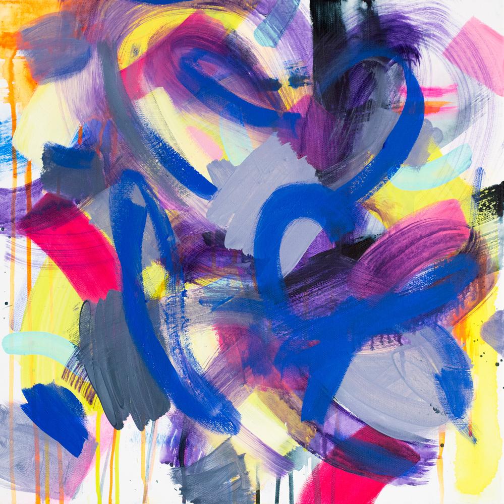 """""""Hidden Treasure"""", 2015-2017 / acrylics on canvas / 50x50 cm / available 480 €"""