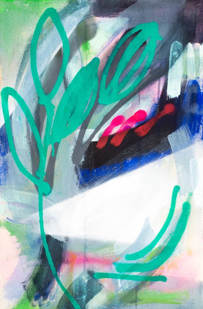 """""""Overgrown"""", 2017 / acrylics & spray paint on canvas / 40x60 cm / available 460 €"""